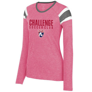 Challenge SC - Red w/ Crest - Ladies Long Sleeve Fanatic Tee Thumbnail