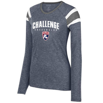 Challenge SC Arch - White w/ Crest - Ladies Long Sleeve Fanatic Tee Thumbnail